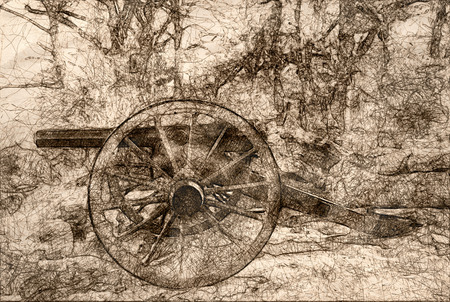 Sketch of an American Civil War Cannon