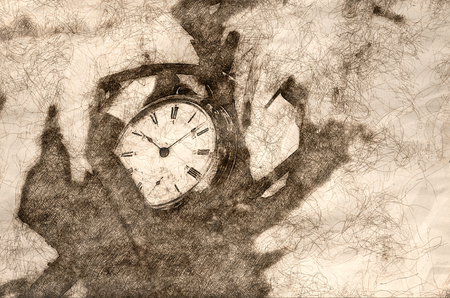 Sketch Showing That It is All About the Passage of Time