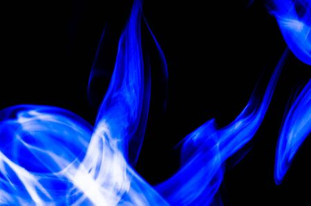 Nature Abstract: The Delicate Beauty and Elegance of a Wisp of Blue Smoke Reklamní fotografie