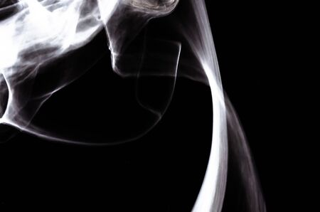 Nature Abstract: The Delicate Beauty and Elegance of a Wisp of White Smoke Imagens