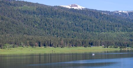 Panoramic View of a Summer Mountain Lake