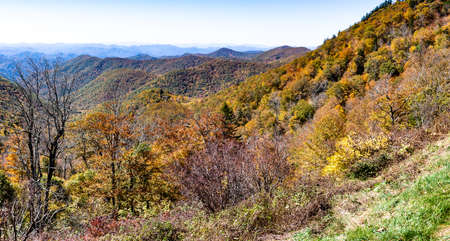 Autumn in the Appalachian Mountains Viewed Along the Blue Ridge Parkway Stock Photo