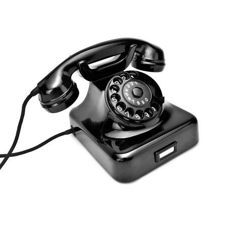 phone handset: vecchio telefono nero retr�