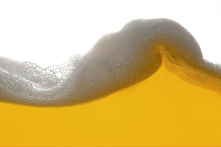 beer foam wave Stock Photo