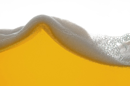 beer tulip: beer foam wave Stock Photo