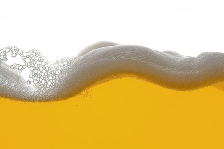 foam bubbles: beer foam wave Stock Photo