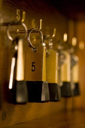 hotel room door: hotel key