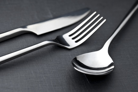 elegant silver cutlery photo