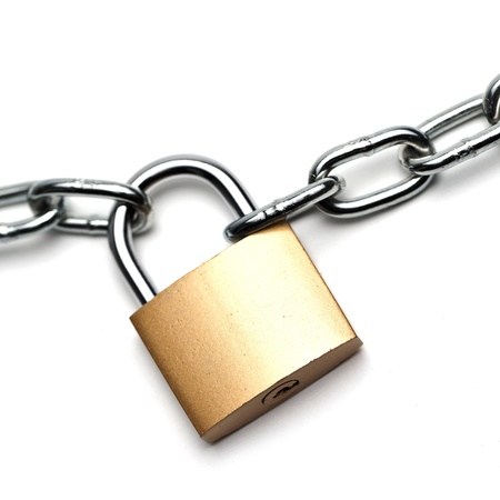 to lock: catena con lucchetto Archivio Fotografico