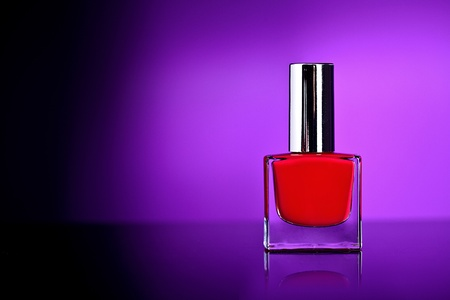 flacon vernis � ongle: ongles vernis � bouteille Banque d'images