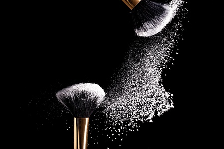 makeup a brush: makeup brush non porridge Stock Photo