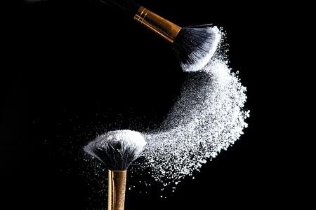 non: makeup brush non porridge Stock Photo
