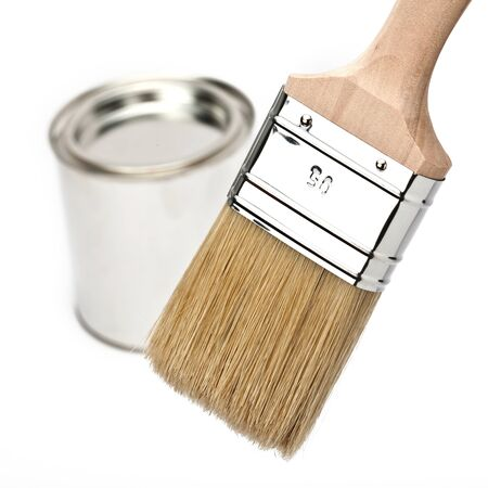 paint brush with paint bucket Stock Photo - 11210186