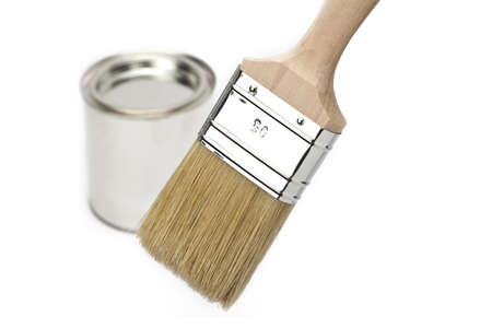 paint brush with paint bucket Stock Photo - 11210177