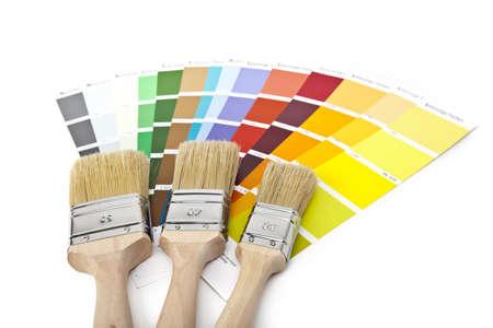 paint brush with farbfacher Stock Photo - 11212671