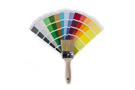ral: paint brush with farbfacher Stock Photo