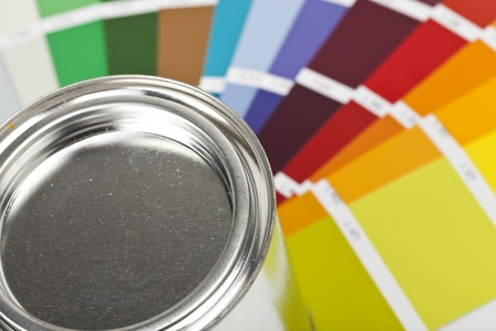 paint bucket with farbf�cher photo