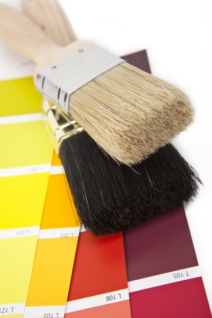 ral: paint brush and color-curricular Stock Photo