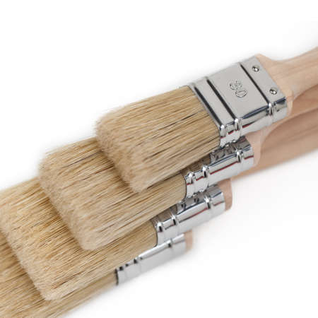four-color brush Stock Photo - 11211727