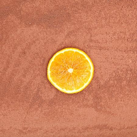 ice sheet: cocoa powder my orange