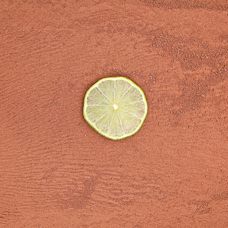 cocoa powder with lime photo