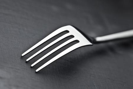 fork on a slate plate photo