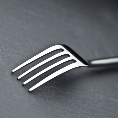 fork on a slate plate photo