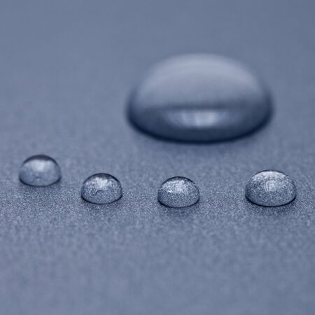 waterproof: water droplets shape as a foot