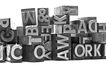 lead letter heaps with capital letters photo