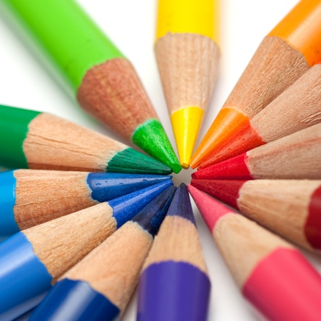 Coloured crayons photo
