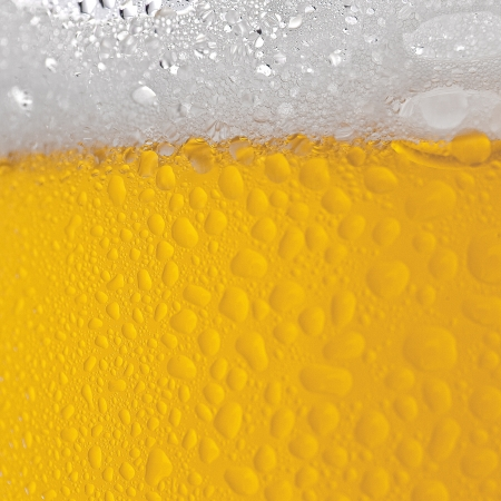 Beer foam with drops photo