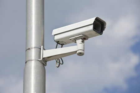 Video camera on a lamppost photo