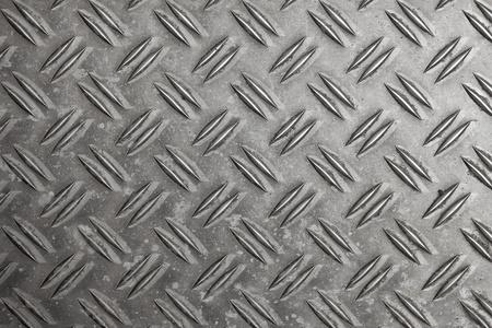 Aluminum checker plate pattern Stock Photo