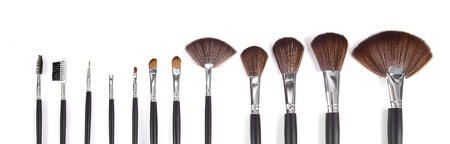 makeup brush: powder brushes  white background