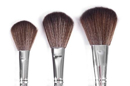 powder brushes  white background Stock Photo - 11588361