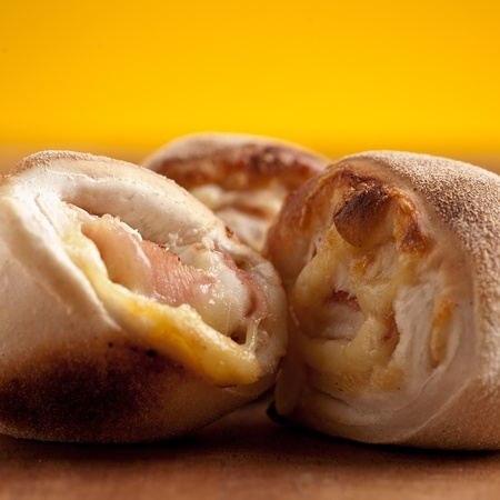 pizza rolls on wood Banco de Imagens