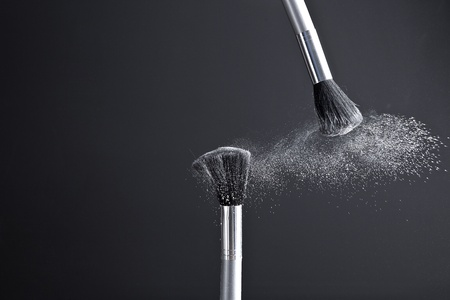 powderbrush on black background