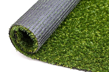 Green artificial turf rolled Stock Photo - 11393654