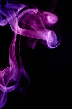undulation: purpel smoke forming waves on Black background