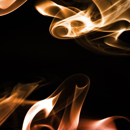 undulation: multicolored smoke forming waves on black background Stock Photo