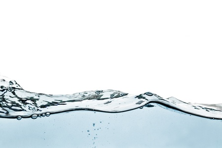 wetness: Blue water wave Stock Photo