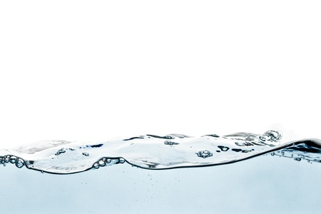 spring tide: Blue water wave Stock Photo