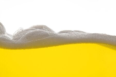 Golden Beer foam wave photo