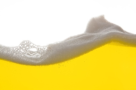 liquid gold: Golden Beer foam wave