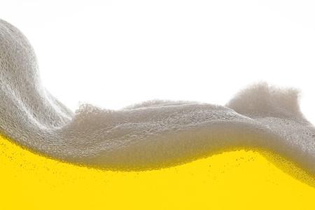 beer foam: Golden Beer foam wave
