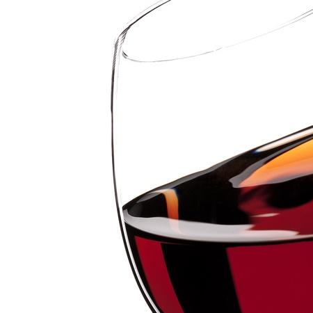 glas: Red Wine Glas silhouette on White Background