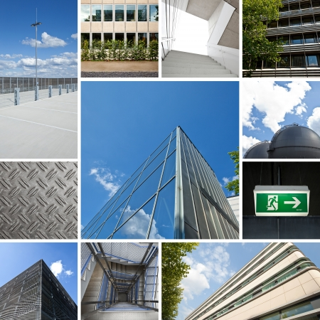 industry park: office building futuristic architecture collage energy