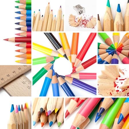 Colored pencil collage   photo