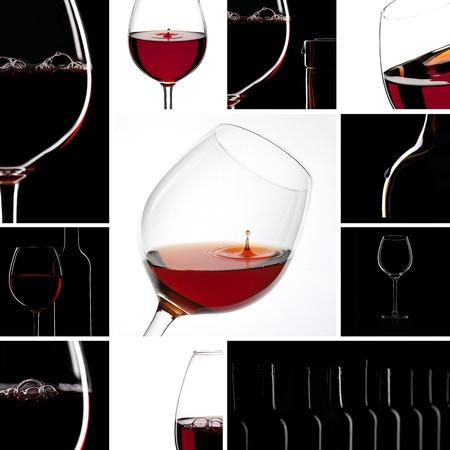 bordeaux region: wine Collage