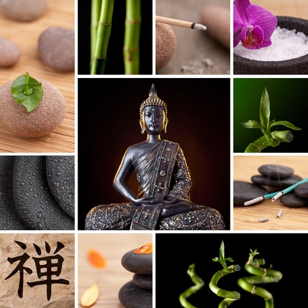 feng shui: Buddha Zen Asia Collage